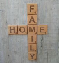 Large Wooden Letter Scrabble Tiles,Wall Art  , SOLID  BEECH HARDWOOD  9cm x 9cm